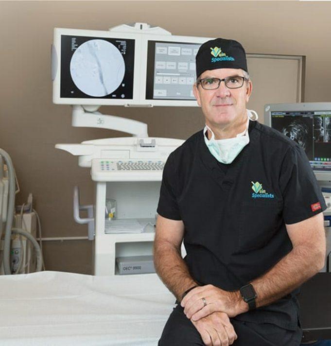 Dr. Magnant in scrubs